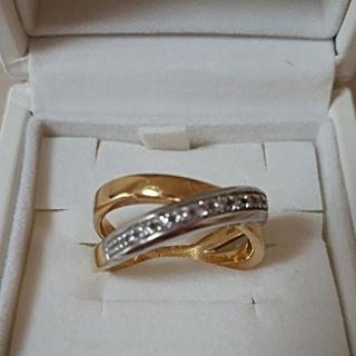 しげみにー様専用 18金 ダイヤ入りリング(リング(指輪))