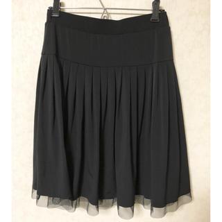 シマムラ(しまむら)のひざ丈スカート ブラック L(ひざ丈スカート)