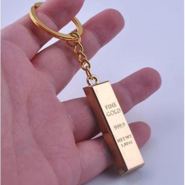 セットでお得☆純金箔 1万円札フルゴールド9&金の延べ棒キーホルダー メンズのファッション小物(名刺入れ/定期入れ)の商品写真