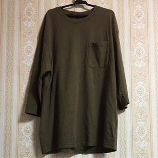 ジーユー(GU)のジーユー ユニクロ ビッグTシャツ ロングTシャツ(Tシャツ(長袖/七分))