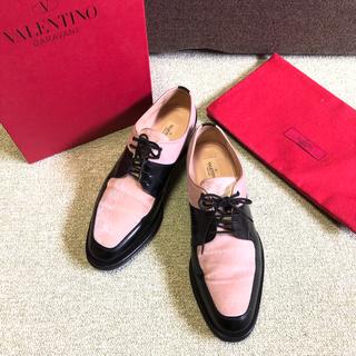 ヴァレンティノガラヴァーニ(valentino garavani)のVALENTINO GARAVANI ヴァレンティノ バレンチノ ベロア(ローファー/革靴)