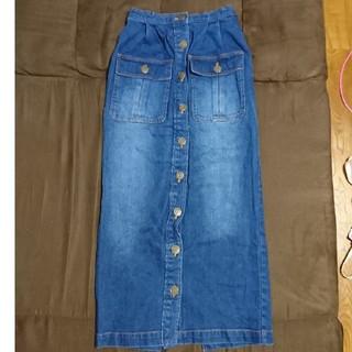 リズリサ(LIZ LISA)のリズリサロゴボタンデニムロングスカート(ロングスカート)