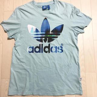 アディダス(adidas)の【送料込】adidas オリジナルス Tシャツ 水色 Lサイズ ロゴマーク(Tシャツ/カットソー(半袖/袖なし))