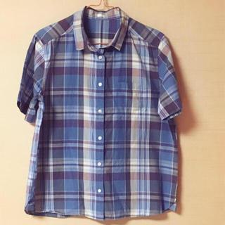 ジーユー(GU)の最終、全商品を大幅値下げ!新品♡チェックシャツ(シャツ/ブラウス(半袖/袖なし))