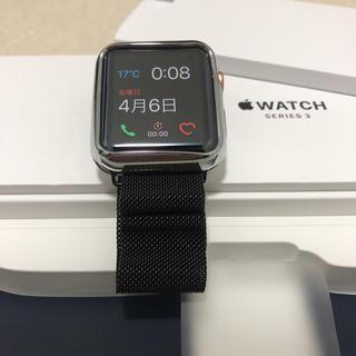 アップル(Apple)のapple watch serese3 42mm セルラーモデル 極美品(その他)