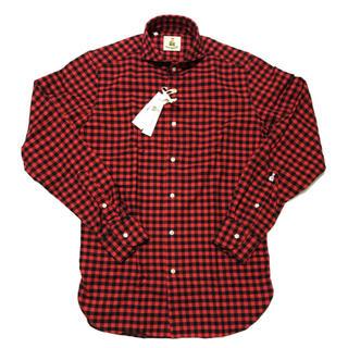 ギローバー(GUY ROVER)の【新品】GUY ROVER ギローバー チェック柄 長袖シャツ L イタリア製(シャツ)