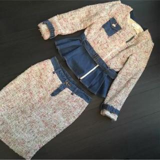 ニーナミュウ(Nina mew)のニーナミュウ✪デニム&ツイード❤︎ペプラムジャケット&スカート(ひざ丈スカート)