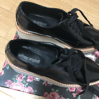 ジェフリーキャンベル(JEFFREY CAMPBELL)のjeffreycampbell 厚底レースアップシューズ(ローファー/革靴)