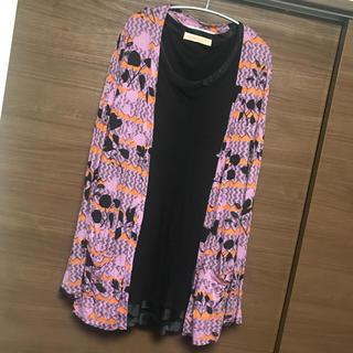 アウラアイラ(AULA AILA)の【最終値下げ】dual購入 DRESSING DOWNサイケ柄カーディガン(カーディガン)