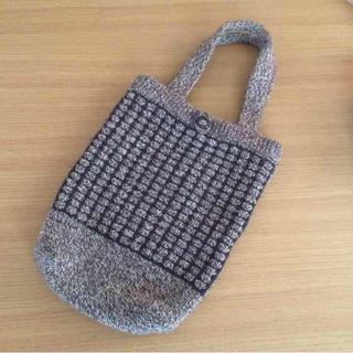 ムジルシリョウヒン(MUJI (無印良品))の無印良品  ニットカバン  ☆(ハンドバッグ)