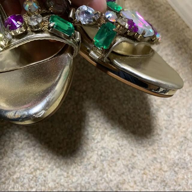セレブビジューゴールドサンダル☆ レディースの靴/シューズ(サンダル)の商品写真