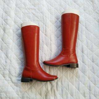 【未使用】ジョッキーブーツ ダークレッド 22cm(ブーツ)