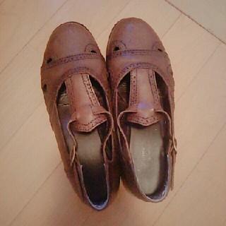 アトリエドゥサボン(l'atelier du savon)のレザーストラップシューズ(ローファー/革靴)