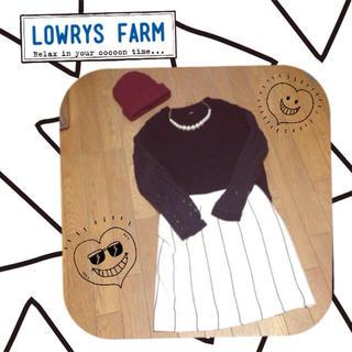 ローリーズファーム(LOWRYS FARM)のLOWRYSピンストライプタイトスカート(ミニスカート)