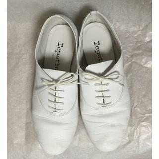 レペット(repetto)の【着用回数少】repetto レペット Zizi ジジ レースアップ ホワイト(ローファー/革靴)