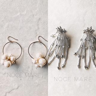 aki様専用-pearl bouquet- -silver silver-(ピアス)