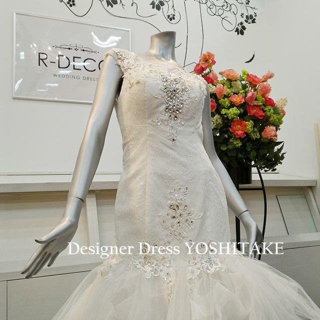 ウエディングドレス 挙式/披露宴 マーメイド風 レディースのフォーマル/ドレス(ウェディングドレス)の商品写真