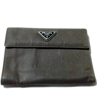 プラダ(PRADA)のプラダ 折り財布 ダークブラウン プラダロゴ(財布)