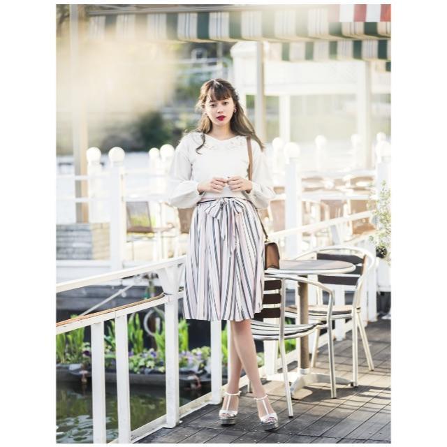 tocco(トッコ)の☆ゆう☆様専用  ♡美品♡ tocco マルチストライプスカート ピンク レディースのスカート(ひざ丈スカート)の商品写真