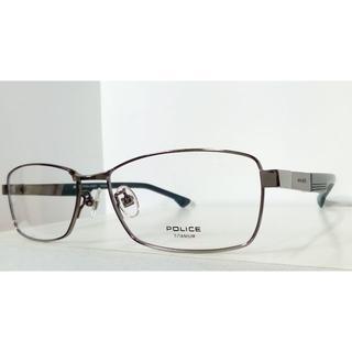 ポリス(POLICE)のポリス ◆メガネフレーム VPL544J-グレー/ダークグリーン(サングラス/メガネ)