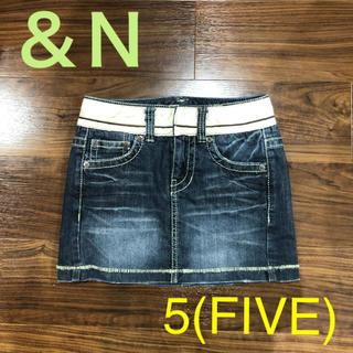 アンドエヌ(and N)の&N 5(FIVE)-ショートデニムスカート(ミニスカート)