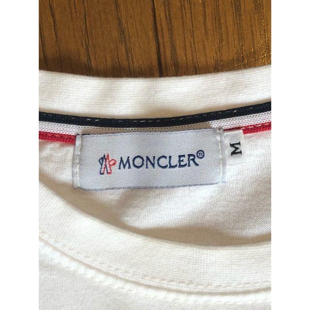 MONCLER(モンクレール)のお値下げ中!MONCLER ロンT ホワイト(^^♪ メンズのトップス(Tシャツ/カットソー(七分/長袖))の商品写真