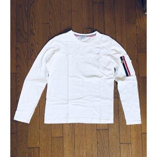 モンクレール(MONCLER)のお値下げ中!MONCLER ロンT ホワイト(^^♪(Tシャツ/カットソー(七分/長袖))