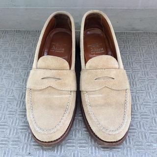 オールデン(Alden)の美品 春夏 alden ローファー スエード 6.5D オールデン 靴