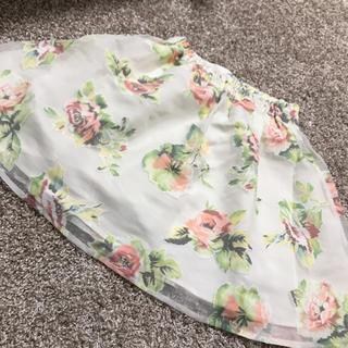 バイバイ(ByeBye)の花柄スカート(ミニスカート)