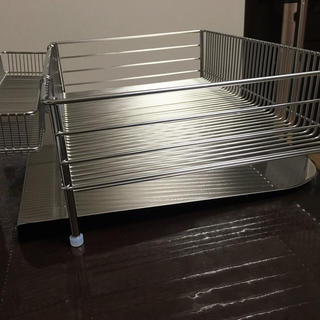 ラバーゼ 水切りかご(縦置きタイプ)3点セット(収納/キッチン雑貨)