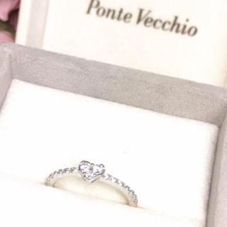 ポンテヴェキオ(PonteVecchio)の美品☆ポンテヴェキオ k18 ハート ダイヤリング(リング(指輪))