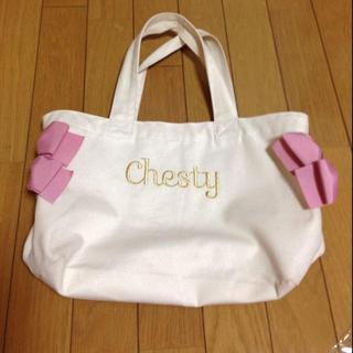 チェスティ(Chesty)のchesty♡リボンバッグ♡値下げ!(エコバッグ)