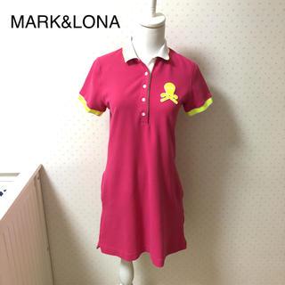 マークアンドロナ(MARK&LONA)のMARK&LONAマークアンドロナ/ピンクワンピース/レディースゴルフウェアM(ウエア)