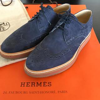 エルメス(Hermes)のエルメス メンズシューズ ウイングチップスエード (ドレス/ビジネス)