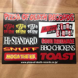ハイスタンダード(HIGH!STANDARD)のPIZZA OF DEATH RECORDS 非売品 ステッカー‼︎(ミュージシャン)
