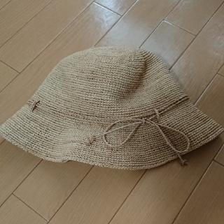 ムジルシリョウヒン(MUJI (無印良品))の無印良品  折り畳めるラフィア帽    美品(麦わら帽子/ストローハット)