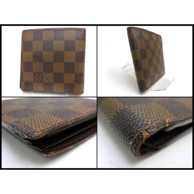09b01d26bc02 LOUIS VUITTON(ルイヴィトン)のルイヴィトン ダミエ マルコ メンズ 二つ折り財布 N61675