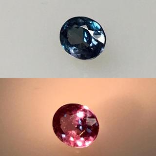【みさま様専用】魅惑のカラーチェンジ 天然 アレキサンドライト ルース 鑑別付き(リング(指輪))