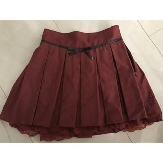 シークレットマジック(Secret Magic)の赤のプリーツスカート(ミニスカート)