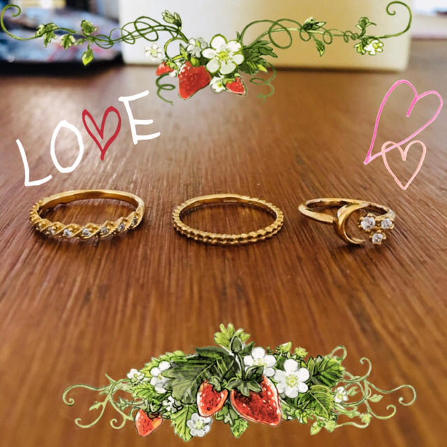 ❤︎なゆた様 専用❤︎ レディースのアクセサリー(リング(指輪))の商品写真