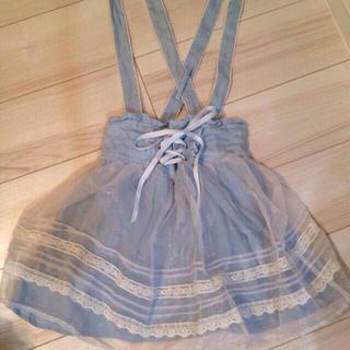 リズリサ(LIZ LISA)のリズリサ♥️ベール付きジャンスカ(ひざ丈スカート)