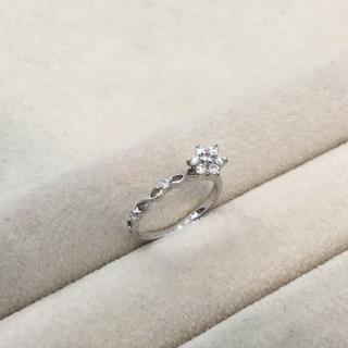K10ホワイトゴールド ダイヤ0.13ct リング 指輪(リング(指輪))