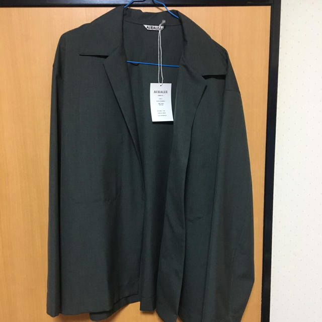 COMOLI(コモリ)のAURALEE wool silk shirts jacket 18ss メンズのジャケット/アウター(テーラードジャケット)の商品写真