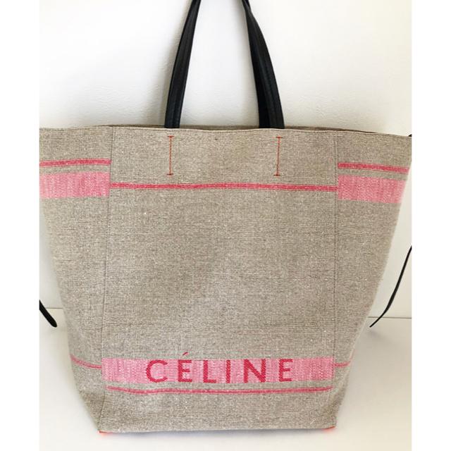 d83e0fd57eca celine(セリーヌ)の美品 celine カバ ファントム キャンバス トート リネン レディースのバッグ