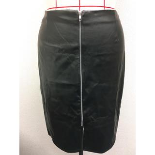 アトモスフィア(ATMOSPHERE)の[大きいサイズ] インポート フェイクレザースカート UK20/約19号(ひざ丈スカート)