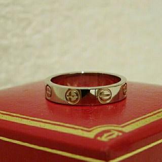 カルティエ(Cartier)の【Cartier】カルティエ ミニラブリング ホワイトゴールド 6号(リング(指輪))