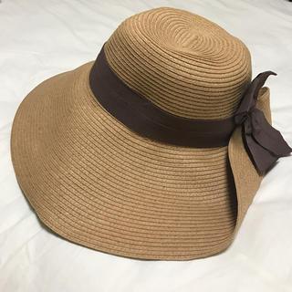 ストロベリーフィールズ(STRAWBERRY-FIELDS)のストロベリーフィールズ 女優帽 麦わら帽子(麦わら帽子/ストローハット)