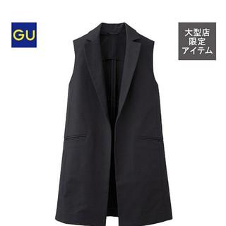 ジーユー(GU)の新品未使用 GUジレ 黒 S(ベスト/ジレ)
