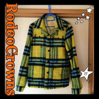 ロデオクラウンズ(RODEO CROWNS)のロデオ☆チェックコート(ピーコート)