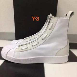 ワイスリー(Y-3)の新品 25cm Y-3 adidas PRO ZIP HI OFF-WHITE(スニーカー)